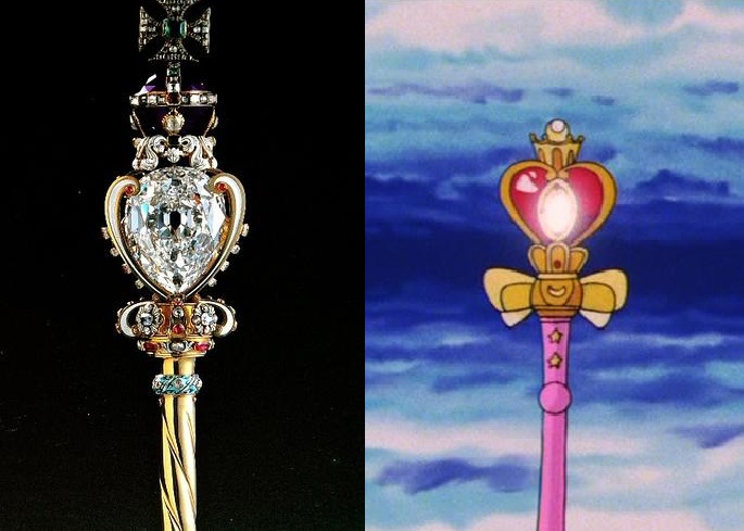 The Sovereign's Scepter with Cross and Spiral Heart Moon Rod