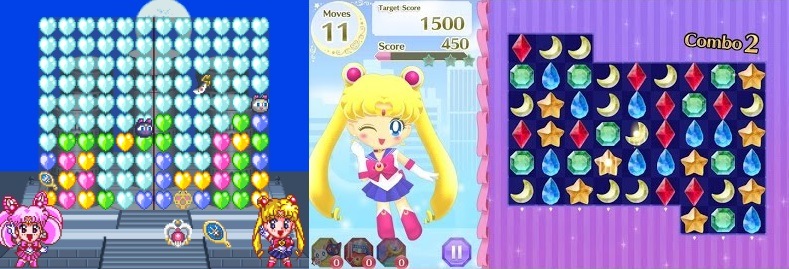 Sailor Moon Games made in 1995 vs. 2016