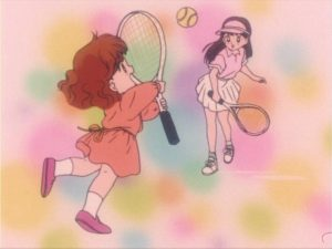 Little Naru Playing Tennis With Rui