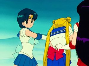 Sailor Mercury doesn't need weapons...