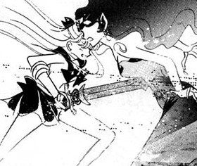 Sailor Venus guards Queen Beryl... to death