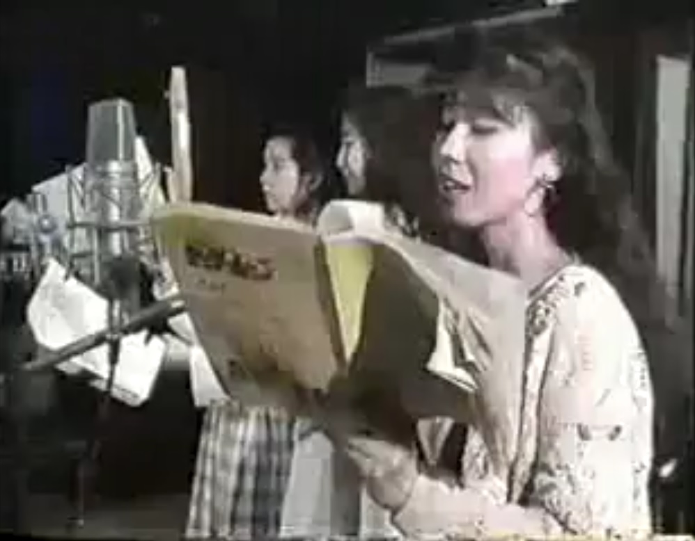 Sailor Moon cast doing an audio recording session