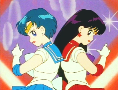 Sailor Mercury and Sailor Mars