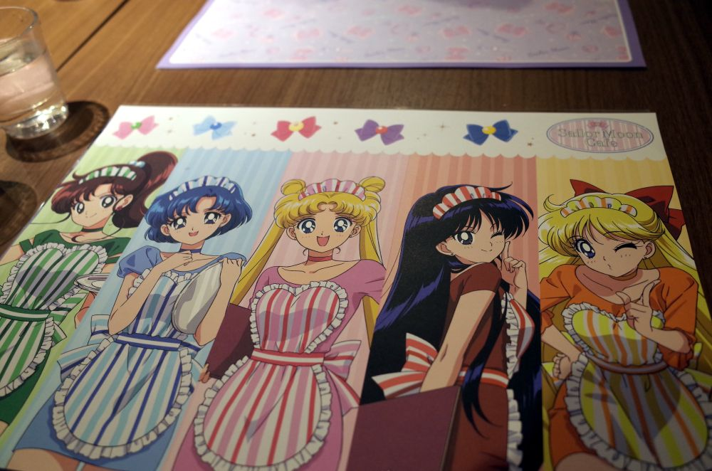 Sailor Moon Cafe placemat
