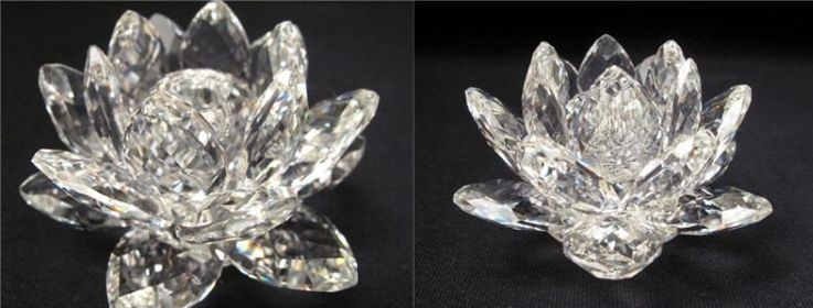 Swarovski lotus flower candlestick holder