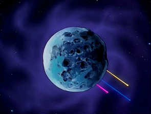 The Starlights' home planet after destruction