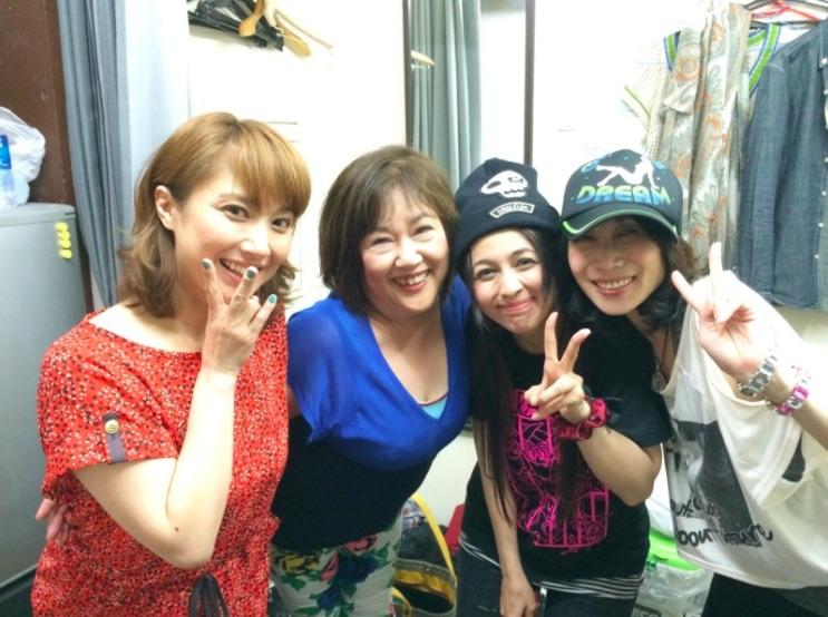 Misako Iwana (Mars), Akiko Kosaka (music director of Sailor Moon musicals), Anza Oyama (Moon), Momoko Okuyama (Healer) (2014)