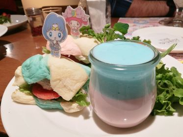 Sailor Mercury & My Melody Marshmallow-y Sandwiches