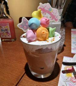Luna & My Melody's Colorful Meringue Ice Latte