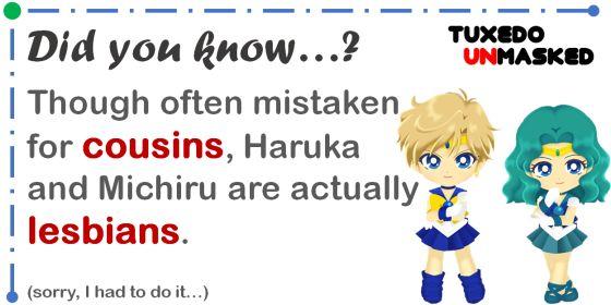 Wait, Haruka and Michiru aren't cousins??