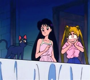 Usagi, however, IS afraid of ghosts