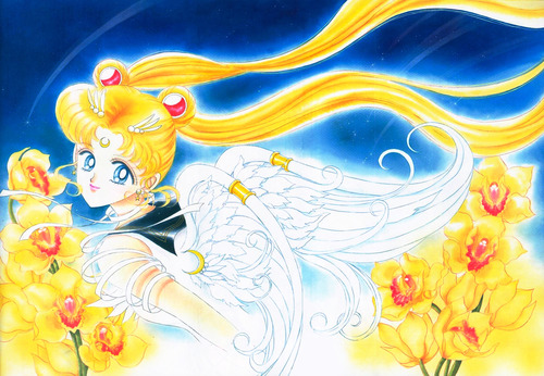 Eternal Sailor Moon also likes flowers