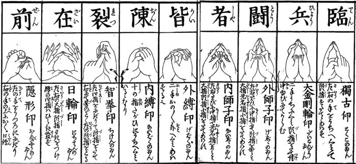 The kuji gestures