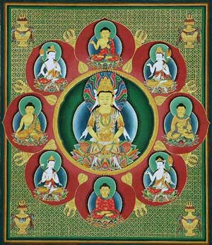 The Buddhas of the Eight Petal Lotus