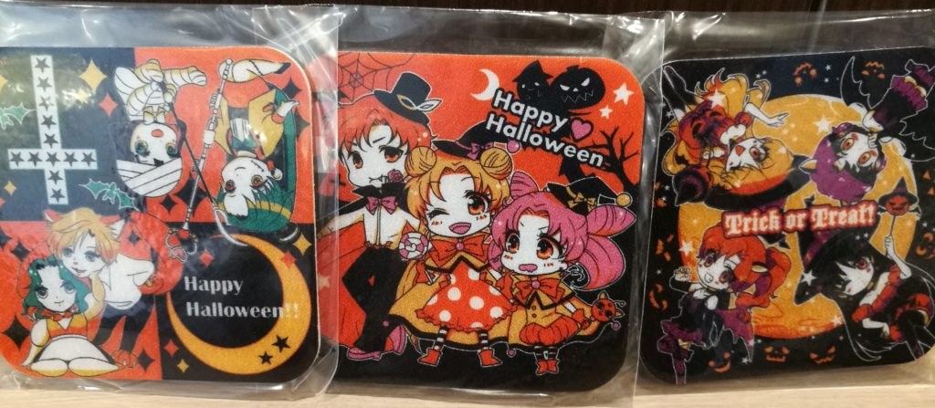 All-Senshi lineup for some Halloween-themed coasters