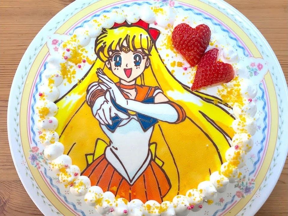 Sailor Venus cake by YouTuber DreamChaser