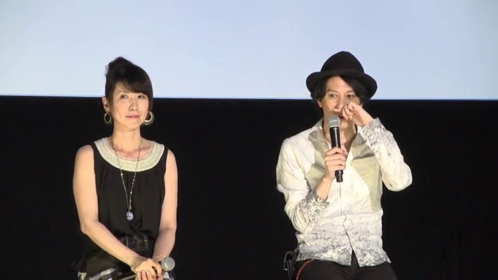 Kotono Mitsuishi and Kunihiko Ikuhara discussing the Sailor Moon R movie