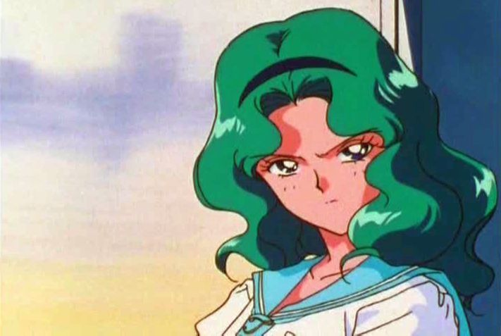 Michiru has a lot in common with the Hulk -- both are green, and you won't like them when angry