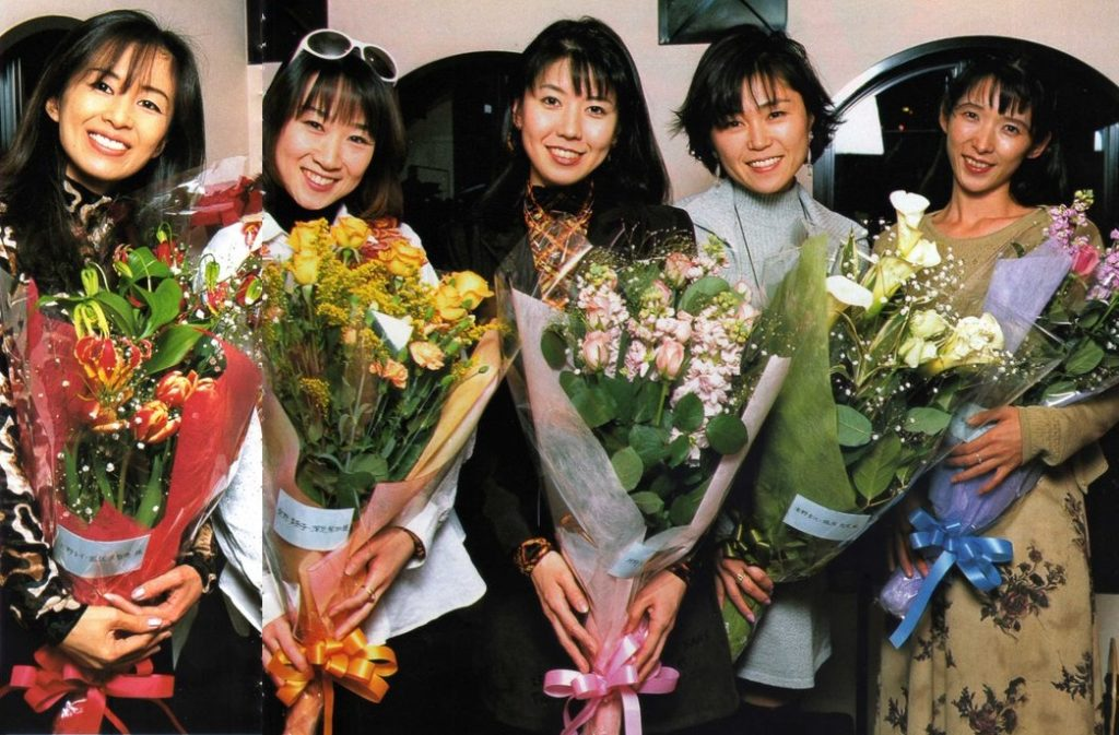 The five Inner Senshi the week before their last recording session (flowers from Ms. Takeuchi)