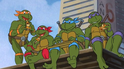 If you told me I'd be blogging about Ninja Turtles on a Sailor Moon blog, I'd have never believed you...