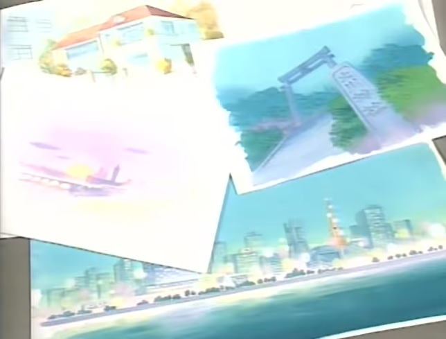 Some of the beautiful background artwork Sailor Moon was known for